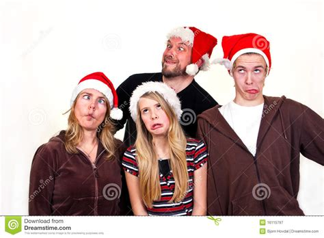 family christmas stock image image of crazy expression