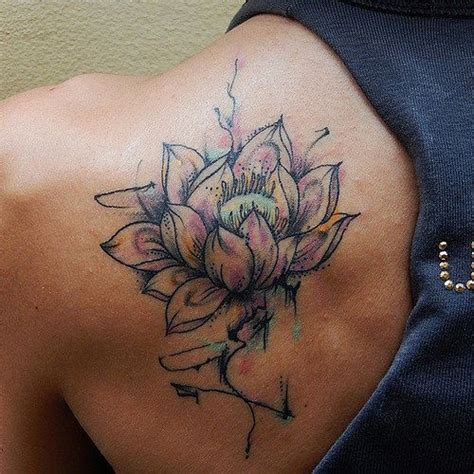 top watercolor lotus flower tattoo images for pinterest
