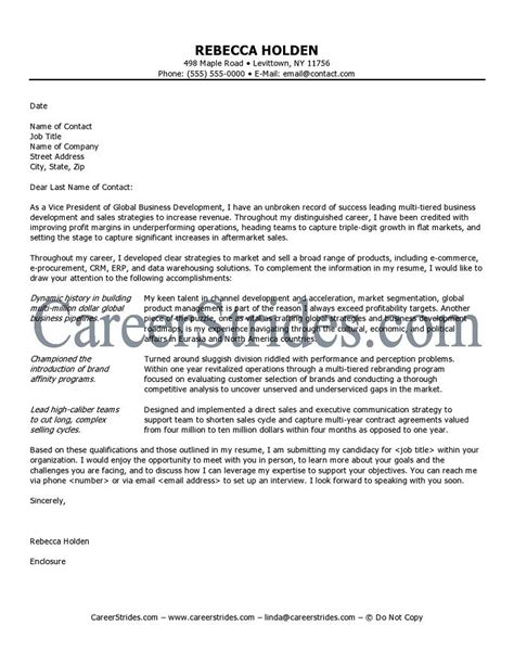 Cover Letter Executive Position by Executive Cover Letter Sle