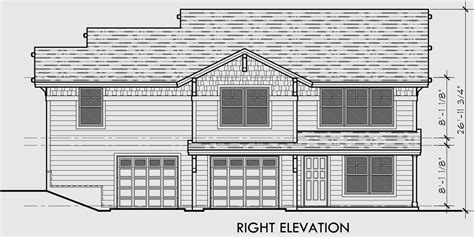 Corner Lot Duplex Plans by Duplex House Plans Corner Lot Duplex Plans D 534