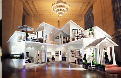 Ballard Designs Chandeliers Target Opens Life Size Dollhouse In Grand Central Terminal