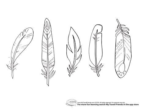 feather coloring page my travel friends coloring pages