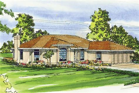 Mediterranean House Plan by Mediterranean House Plans Plainview 11 079 Associated