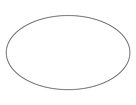 printable oval template oval pattern use the printable outline for crafts
