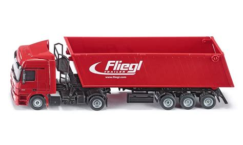 Siku Truck With Silo Traller siku 3537 1 50 truck with tipping trailer robbis hobby shop