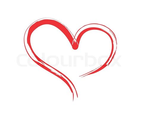 Home Design Plans Free by Brushed Heart Red Shape Heart Stock Vector Colourbox