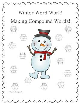 christmas compound words worksheet christmas worksheets for winter compound words by