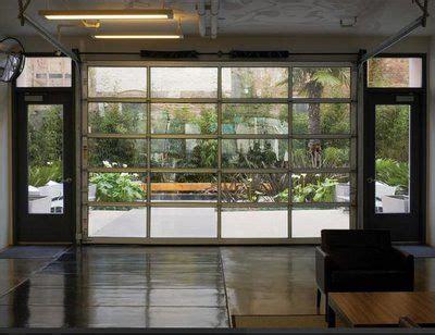 glass garage door ideas  pinterest industrial