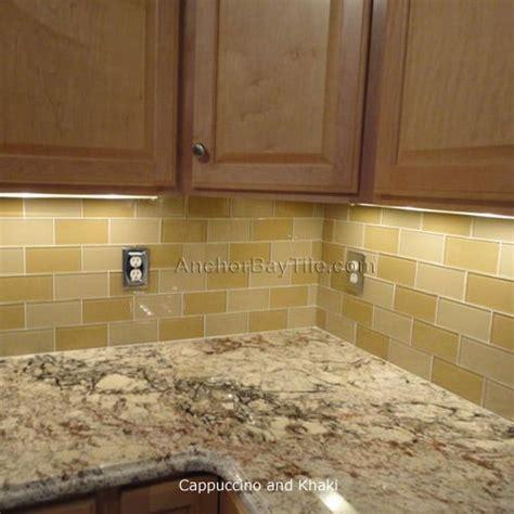neutral glass tile backsplash neutral glass subway tile kitchen renovation