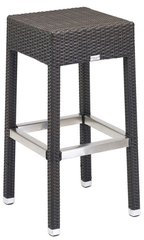 Square Backless Bar Stools by Commercial Outdoor Square Large Seat Wicker Backless Bar Stool