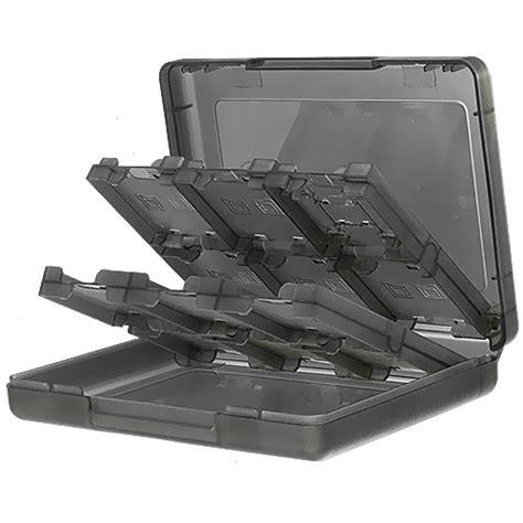 porta nintendo 3ds porta cartucce gioco grigio 24 in 1 per nintendo 3ds xl