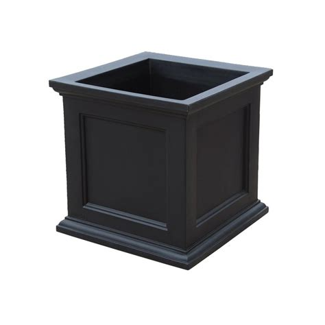 Square Plastic Planter by Mayne Fairfield 28 In Black Plastic Square Planter 8800 B