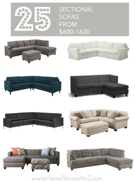 25 affordable sectional sofas