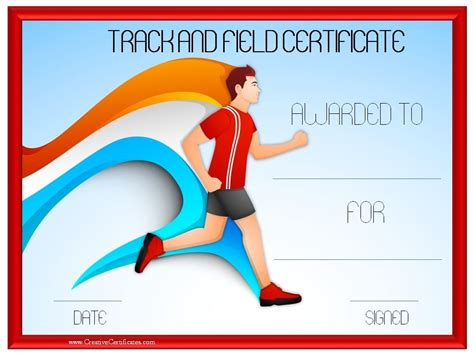 track and field certificate templates free track and field certificate templates free customizable