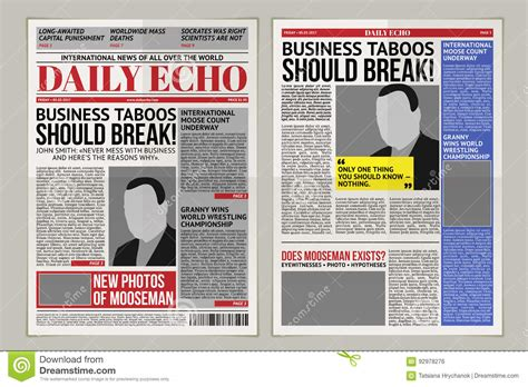 layout for tabloid vector daily newspaper template tabloid layout posting