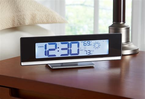weather station alarm clock sharper image