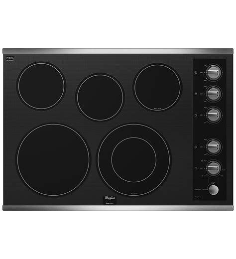 Whirlpool Cooktop whirlpool g7ce3055xs 30 quot electric cooktop