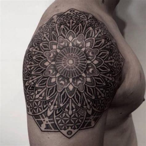 tattoo mandala dotwork shoulder mandala dotwork tattoo by chopstick tattoo best