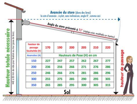 Hauteur D Un Rideau Par Rapport Au Sol by Comment Poser Votre Store Banne Coffre Terrasse
