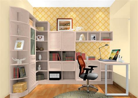 3d Design Study Room In A Contemporary Style » Home Design 2017