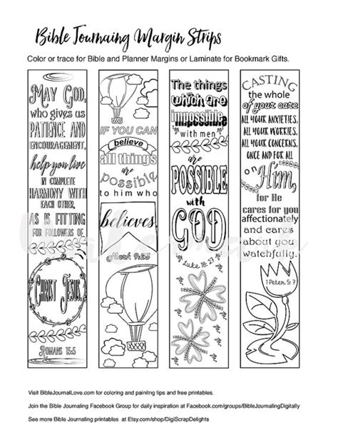 coloring pages for bible journaling printable coloring bible journaling margin strips faith
