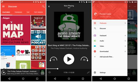 android version 5 pocket casts gets material design and a ton of new features in version 5 0 update