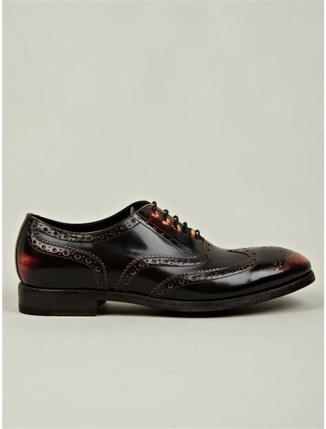 chuck shoes for paul smith mens chuck burnished brogue shoes in brown for