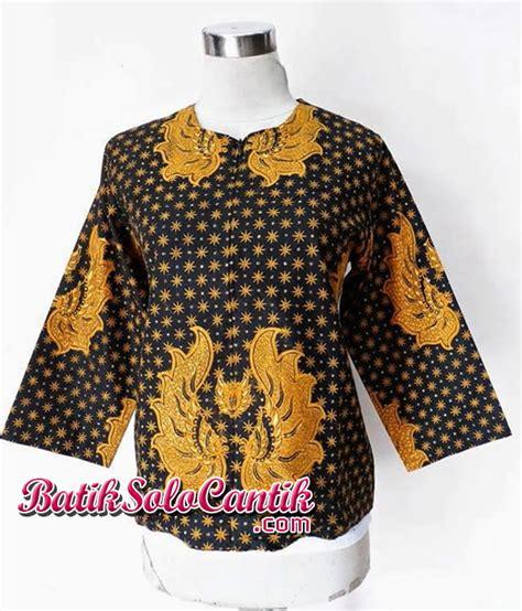 Dress Batik Kerja Nurlela Sogan baju batik sogan baju kerja batik