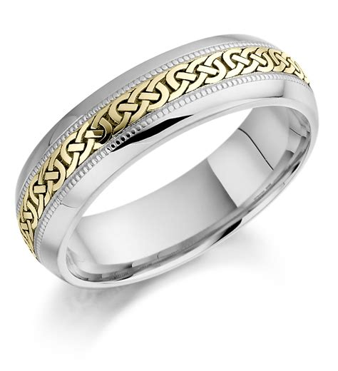 yellow and white gold celtic wedding ringwedwebtalks