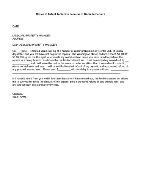 awesome collection of sample letter to landlord for repair request