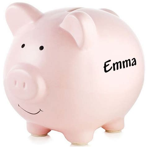 custom piggy banks personalized pink ceramic piggy bank