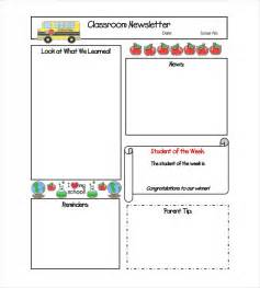 classroom newsletter template classroom newsletter template 9 free word pdf
