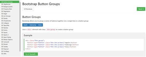 bootstrap tutorial list bootstrap button groups list