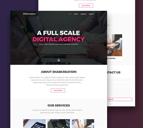 free html website templates for advertising agency simplistic creative agency website template free psd