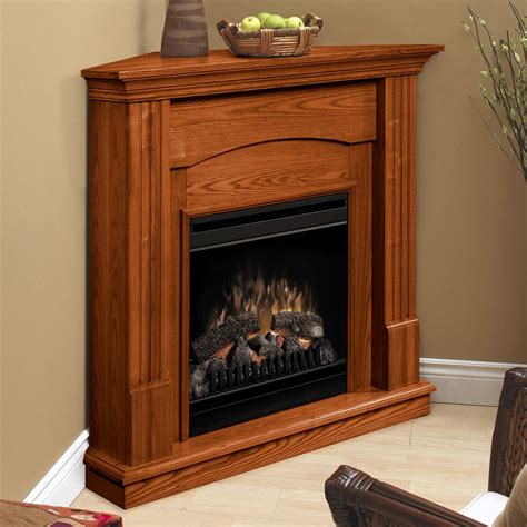 corner fireplace electric dimplex branson oak corner electric fireplace at hayneedle