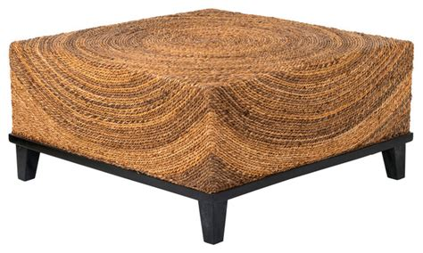 east at s chickasaw brown abaca square coffee table