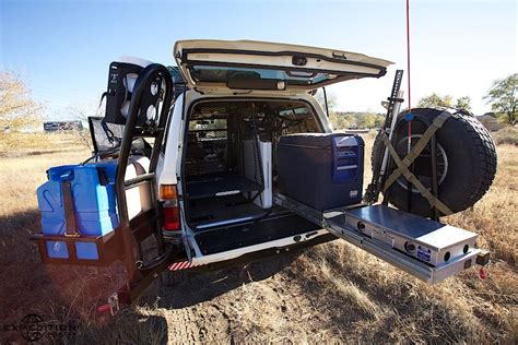 overland jeep setup overland setup the second spare could be stored on the