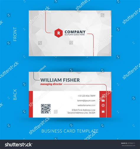 business card template eps vector modern creative clean business card stock vector