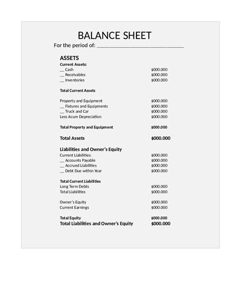 Free Balance Sheet Template by Printable Balance Sheet Website Resume Cover Letter