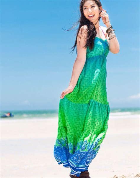 Maxi Lifa A s a green blue maxi dress