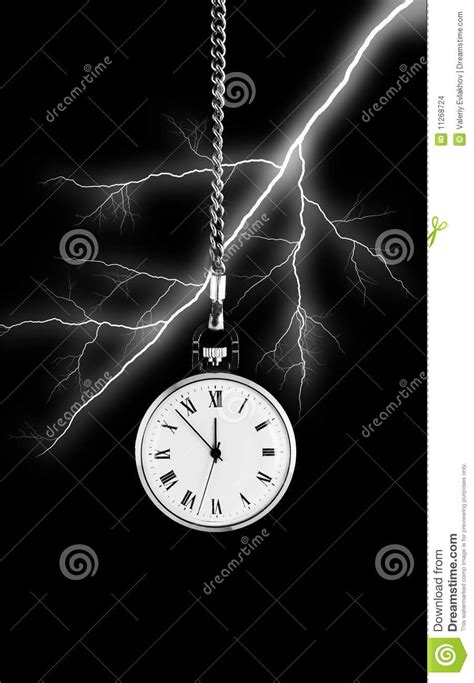 on bolt of lightning background stock photo image of clock abstract 11268724