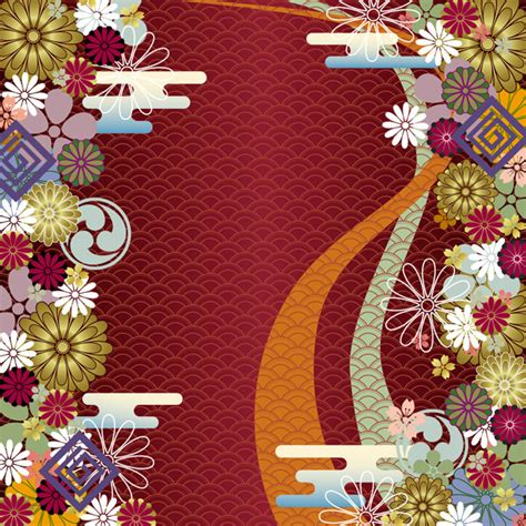 Japanese Pattern Wind | japanese wind pattern background vector free vector 4vector