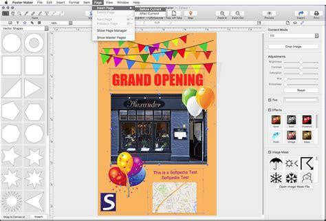 poster maker template poster maker mac