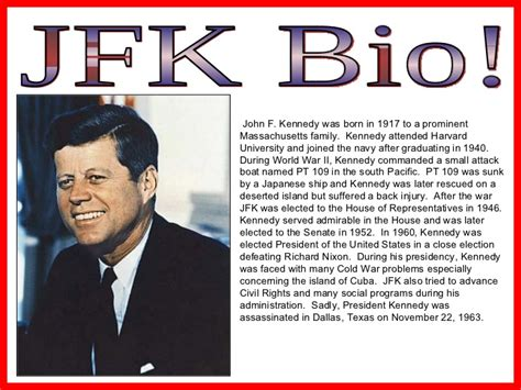 john f kennedy online biography cold war exle powerpoint a model for students