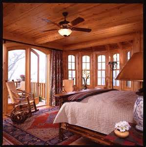log cabin bedroom great windows rustic charm