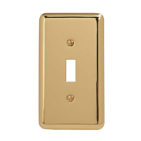 brass light switch covers amerelle steel 1 toggle wall plate bright brass 155t