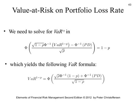 Formula Credit Risk Equivalent Credit Risk Management 2