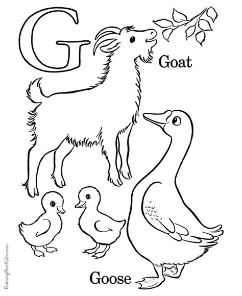 learning alphabet coloring pages letter d 008 learning the alphabet letter g 011