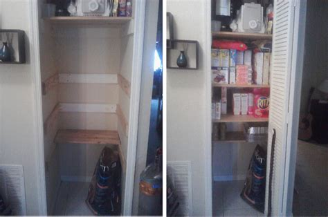 Turning A Closet Into A Pantry by I Turned Coat Closet Into A Pantry Who Said Nothing