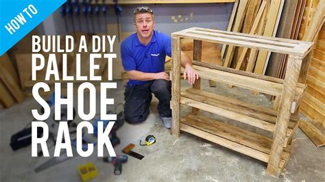 Mudroom Shoe Bench Build A Diy Pallet Shoe Rack Youtube